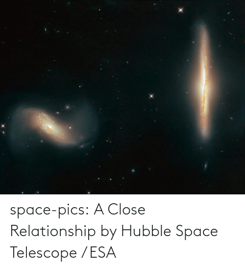 close: space-pics:  A Close Relationship by Hubble Space Telescope / ESA