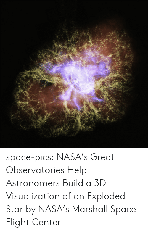 build a: space-pics:  NASA's Great Observatories Help Astronomers Build a 3D Visualization of an Exploded Star by NASA's Marshall Space Flight Center