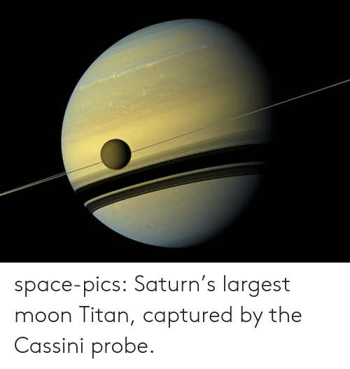 Largest: space-pics:  Saturn's largest moon Titan, captured by the Cassini probe.