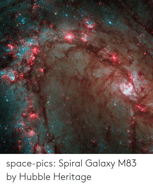 spiral: space-pics:  Spiral Galaxy M83 by Hubble Heritage