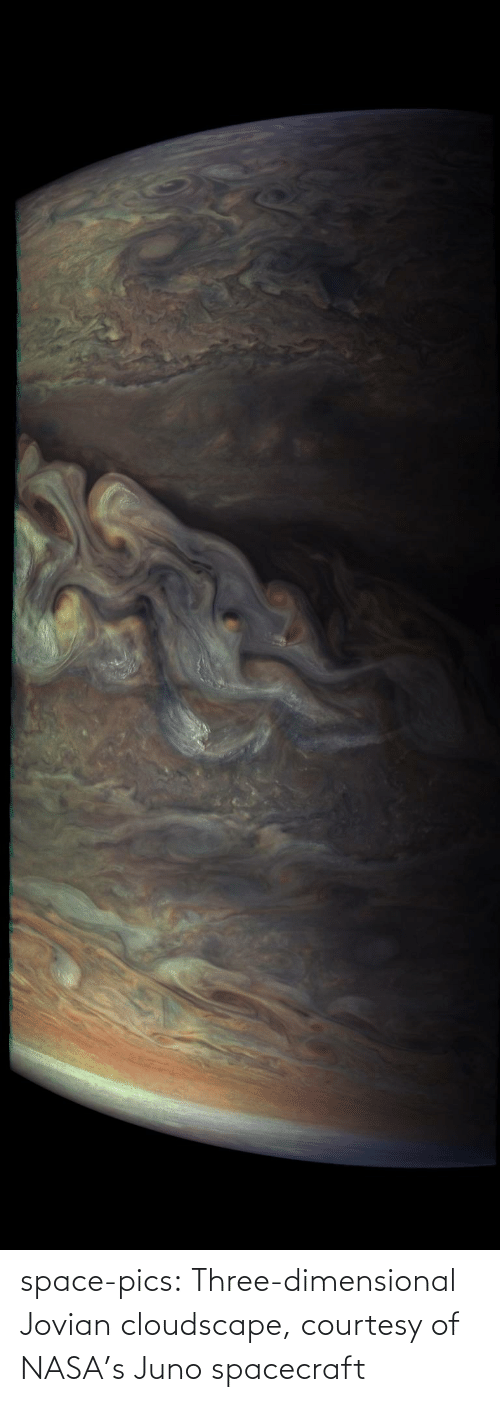 Space: space-pics:  Three-dimensional Jovian cloudscape, courtesy of NASA's Juno spacecraft