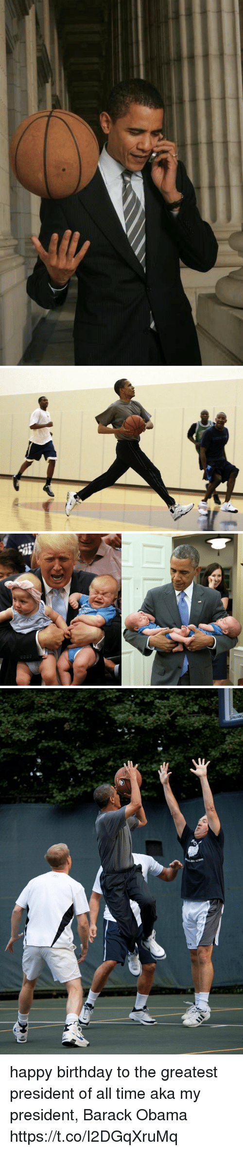 Birthday, Obama, and Happy Birthday: SPALDING happy birthday to the greatest president of all time aka my president, Barack Obama https://t.co/I2DGqXruMq