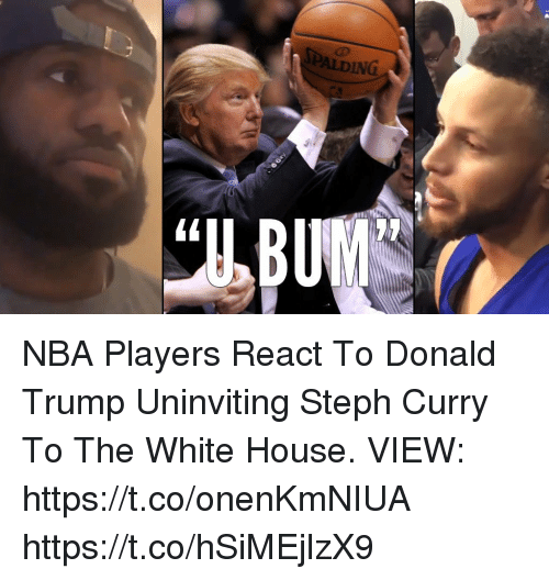 Donald Trump, Memes, and Nba: SPALDING NBA Players React To Donald Trump Uninviting Steph Curry To The White House.   VIEW: https://t.co/onenKmNIUA https://t.co/hSiMEjlzX9