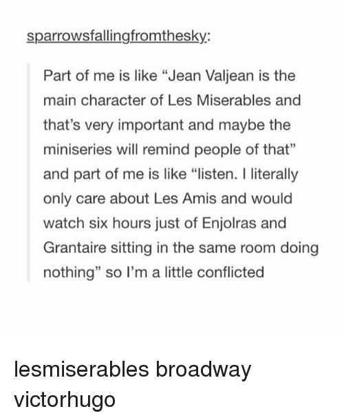 a focus on the character jean valjean in the story prison javert Les miserables summary before valjean leaves the prison, javert—one of the guards in the third part of the story, hugo introduces new characters and the.