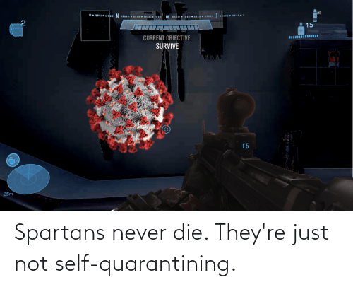 spartans: Spartans never die. They're just not self-quarantining.