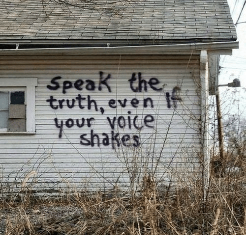 speak the truth: Speak the  truth, even  our vo1