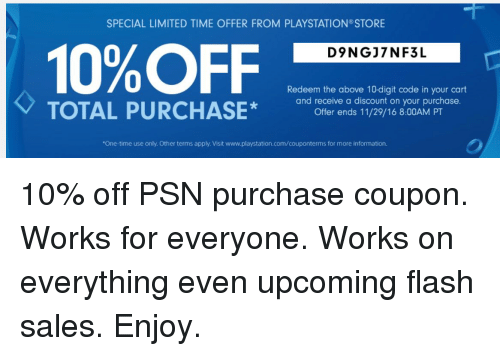 Playstation coupon code
