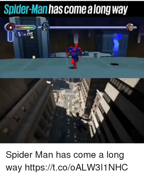 come along: Spider-Man has come along way Spider Man has come a long way https://t.co/oALW3I1NHC