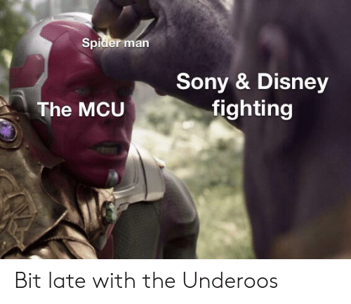 underoos: Spider man  Sony & Disney  fighting  The MCU Bit late with the Underoos