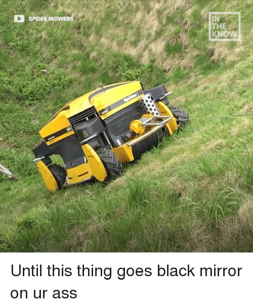 Ass, Dank, and Spider: SPIDER MOWERS  IN  THE Until this thing goes black mirror on ur ass