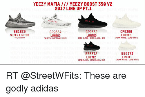 Yeezy Boost 350 v2 'Bred' Visual Overview