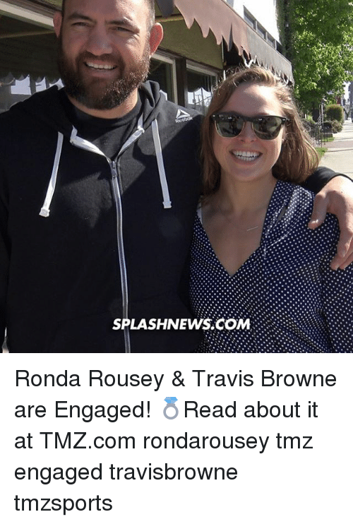 Rondarousey: SPLASH NEWS COM Ronda Rousey & Travis Browne are Engaged! 💍Read about it at TMZ.com rondarousey tmz engaged travisbrowne tmzsports