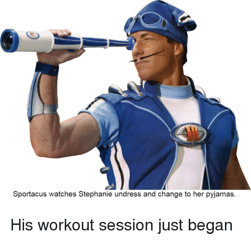 Sportacus Watches Stephanie Undress And Change To Her