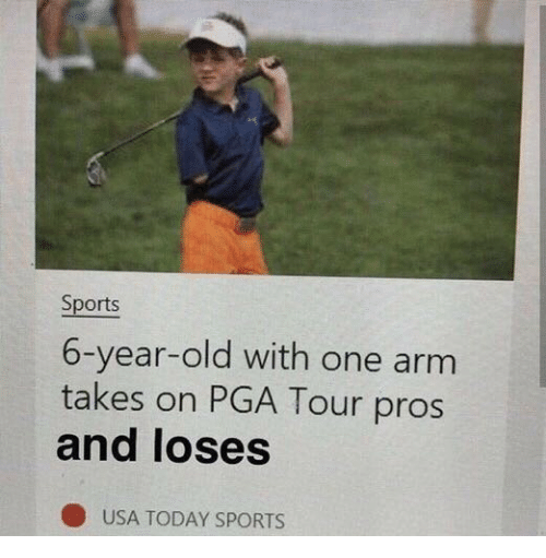 Usa Today: Sports  6-year-old with one arm  takes on PGA Tour pros  and loses  USA TODAY SPORTS