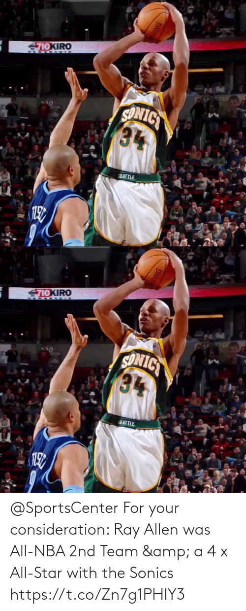 NBA: @SportsCenter For your consideration: Ray Allen was All-NBA 2nd Team & a 4 x All-Star with the Sonics  https://t.co/Zn7g1PHIY3
