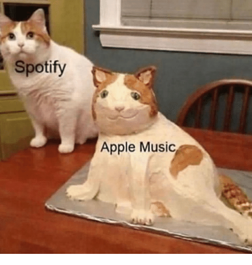 Apple Music: Spotify  Apple Music