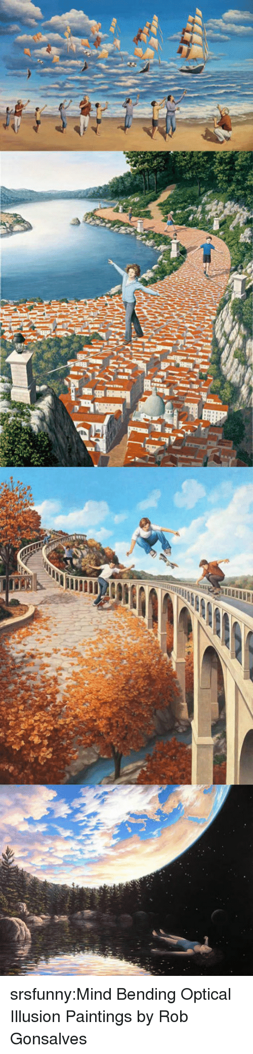 bending: srsfunny:Mind Bending Optical Illusion Paintings by Rob Gonsalves