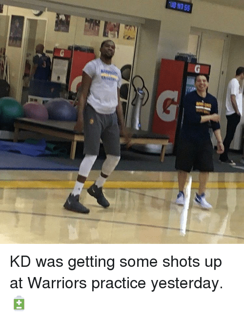 Basketball, Golden State Warriors, and Sports: SS ES 011.  D KD was getting some shots up at Warriors practice yesterday. 🔋