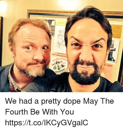 Dope, Memes, and Never: ST  YOU'LL NEVER WALK AL  OUSEL We had a pretty dope May The Fourth Be With You https://t.co/IKCyGVgalC