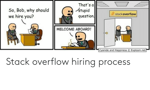 stack: Stack overflow hiring process