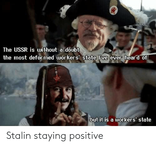 stalin: Stalin staying positive