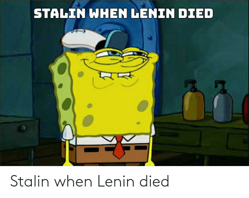 stalin: Stalin when Lenin died