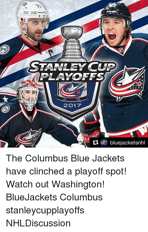 STANLEY CUP PLAYOFFS 2017 Ti Bluejacketsnhl The Columbus Blue Jackets Have Clinched A Playoff ...