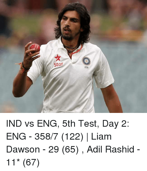 Star 258 IND vs ENG 5th Test Day 2 ENG - 3587 122 | Liam ...