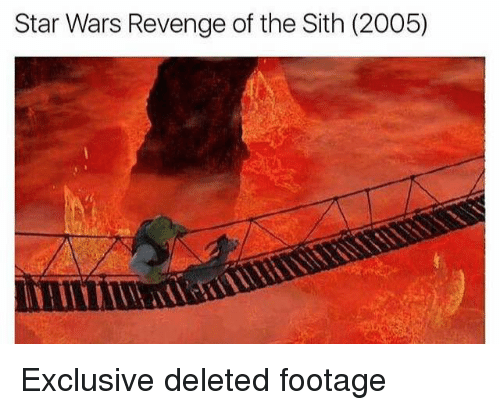Revenge, Sith, and Star Wars: Star Wars Revenge of the Sith (2005) Exclusive deleted footage