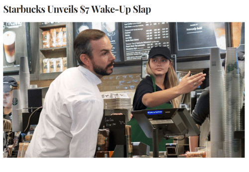 Starbucks, Wake, and Wake Up: Starbucks Unveils S7 Wake-Up Slap