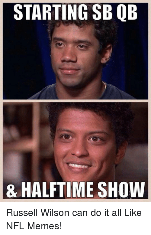 Russell Wilson: STARTING QB  SB 8 HALFTIME SHOW Russell Wilson can do it all