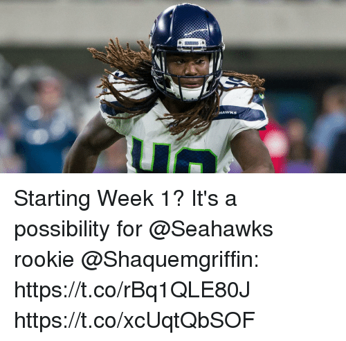 Memes, Seahawks, and 🤖: Starting Week 1?  It's a possibility for @Seahawks rookie @Shaquemgriffin: https://t.co/rBq1QLE80J https://t.co/xcUqtQbSOF