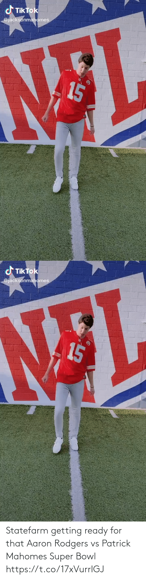 Aaron Rodgers: Statefarm getting ready for that Aaron Rodgers vs Patrick Mahomes Super Bowl https://t.co/17xVurrIGJ