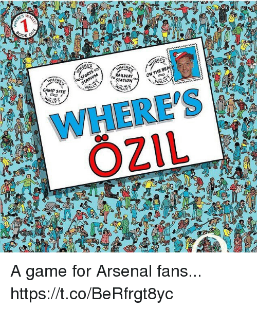 Arsenal, Memes, and Game: STATION  ON THE  CAMP SITE  WHERES A game for Arsenal fans... https://t.co/BeRfrgt8yc