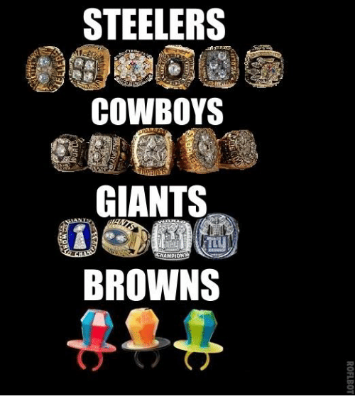 Steelers: STEELERS  COWBOYS  GIANTS  WAMPION  BROWNS