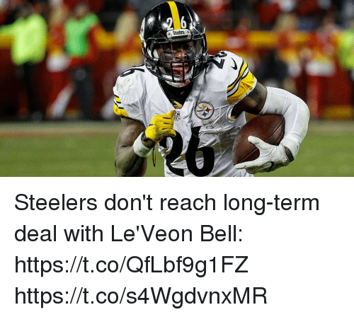 Memes, Steelers, and 🤖: Steelers don't reach long-term deal with Le'Veon Bell: https://t.co/QfLbf9g1FZ https://t.co/s4WgdvnxMR