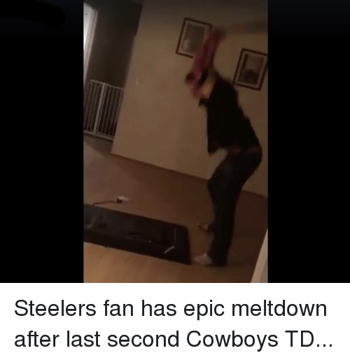 Fanli: Steelers fan has epic meltdown after last second Cowboys TD...