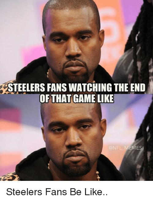 steelers fans be like: STEELERS FANSWATCHING THE END  OF THAT GAME LIKE  EMES Steelers Fans Be Like..