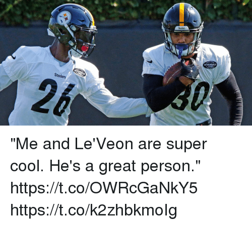 """Leveon: Steelers  RIVENDALE  Steelers """"Me and Le'Veon are super cool. He's a great person."""" https://t.co/OWRcGaNkY5 https://t.co/k2zhbkmoIg"""