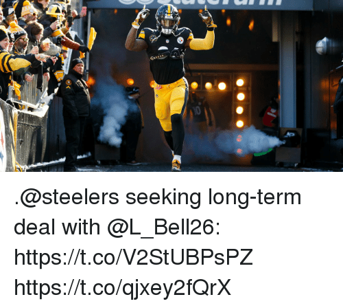 Memes, Steelers, and 🤖: .@steelers seeking long-term deal with @L_Bell26: https://t.co/V2StUBPsPZ https://t.co/qjxey2fQrX