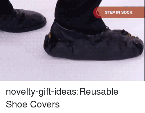 Sock: STEP IN SOCK novelty-gift-ideas:Reusable Shoe Covers