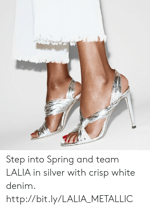 metallic: Step into Spring and team LALIA in silver with crisp white denim. http://bit.ly/LALIA_METALLIC