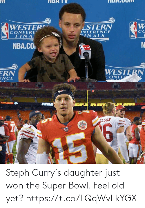 bowl: Steph Curry's daughter just won the Super Bowl. Feel old yet? https://t.co/LQqWvLkYGX