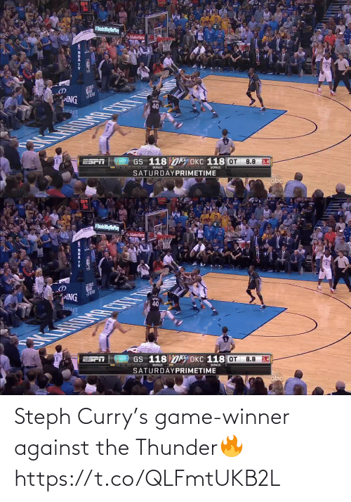 Steph: Steph Curry's game-winner against the Thunder🔥 https://t.co/QLFmtUKB2L