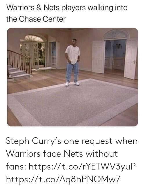 Nets: Steph Curry's one request when Warriors face Nets without fans: https://t.co/rYETWV3yuP https://t.co/Aq8nPNOMw7