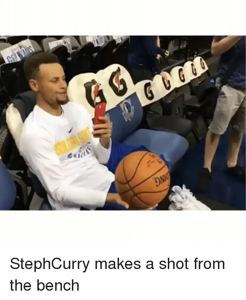 Memes, 🤖, and Shot: StephCurry makes a shot from the bench