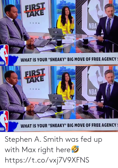fed up: Stephen A. Smith was fed up with Max right here🤣 https://t.co/vxj7V9XFNS