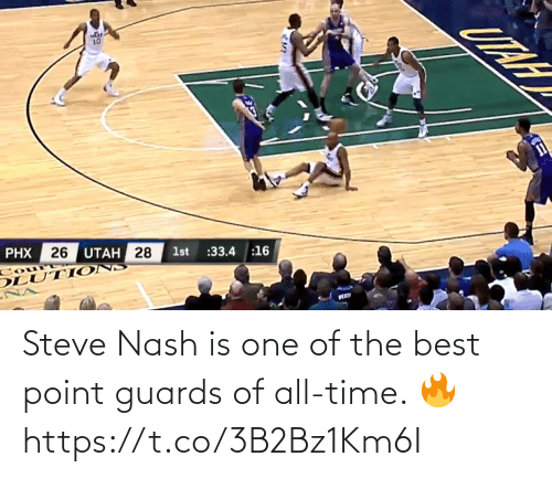 All Time: Steve Nash is one of the best point guards of all-time. 🔥 https://t.co/3B2Bz1Km6I
