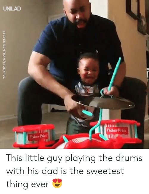 drums: STEVEN BENTHAM/STORYFUL This little guy playing the drums with his dad is the sweetest thing ever 😍