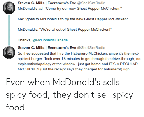 """mcdonalds ad: Steven C. Mills 